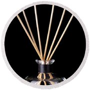 Incense Sticks Round Beach Towel
