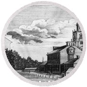 Independence Hall, 1778 Round Beach Towel