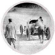 Indianapolis 500, 1912 Round Beach Towel