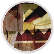 Interstate 10- Exit 259a- 29th St / Silverlake Rd Underpass- Rectangle Remix Round Beach Towel