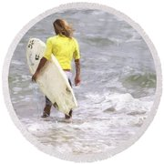 Into The Water Round Beach Towel