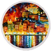 Inviting Harbor Round Beach Towel