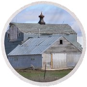 Iowa Barn Round Beach Towel