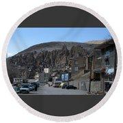 Iran Kandovan Stone Village Round Beach Towel