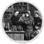 Ireland: Vaccination, 1880 Round Beach Towel
