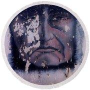 Iron Eyes Cody Homage The Big Trail 1930 The Crying Indian Black Canyon Arizona 2004 Round Beach Towel