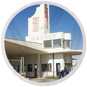 Italian Colonial Architecture In Asmara Eritrea Round Beach Towel