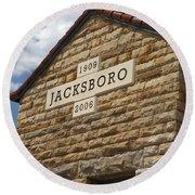 Jacksboro Texas Round Beach Towel