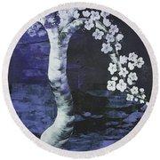 Japanese Cherry Blossom Round Beach Towel