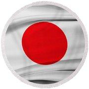 Japanese Flag Round Beach Towel