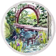 Japanese Tea Garden San Francisco Round Beach Towel by Irina Sztukowski