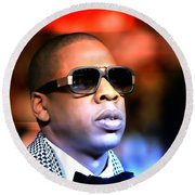 Jay Z Round Beach Towel