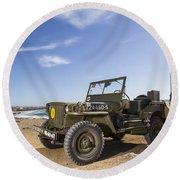 Jeep Willys Round Beach Towel