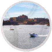 Jersey - Elizabeth Castle Round Beach Towel