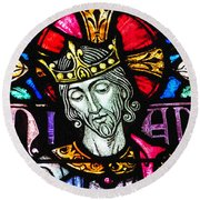 Jesus The King Round Beach Towel