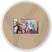 The Matchmaker Round Beach Towel