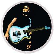 Joe Satriani Painting Round Beach Towel