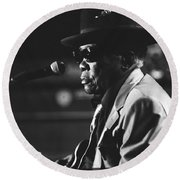 John Lee Hooker Round Beach Towel
