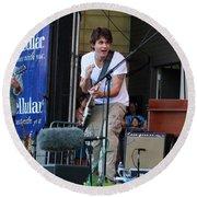 John Mayer And Robbie Mcintosh  Taste Of Chicago Round Beach Towel