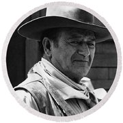 John Wayne Rio Lobo Old Tucson Arizona 1970 Round Beach Towel