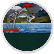 Journey Round Beach Towel by Marvin Blaine