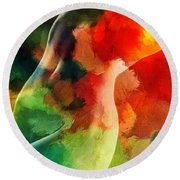 Jungle Love Round Beach Towel
