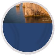 Jurassic Coast Dawn Round Beach Towel