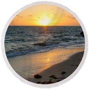 Kamalame Beach Round Beach Towel