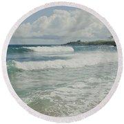 Kapalua Surf Honokahua Maui Hawaii Round Beach Towel
