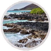 Keanae Lava Rock Round Beach Towel