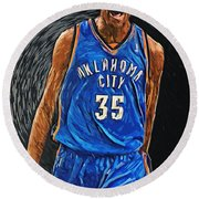 Kevin Durant Round Beach Towel