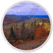 Keweenaw Peninsula And Copper Harbor Round Beach Towel