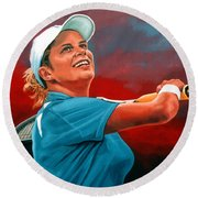 Kim Clijsters Round Beach Towel