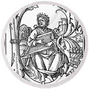 King David (d Round Beach Towel