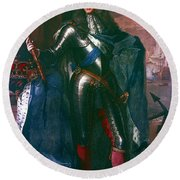 King James II Of England (1633-1701) Round Beach Towel