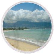 Kite Beach Kanaha Maui Hawaii Round Beach Towel