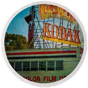 Kodak's Moment Round Beach Towel