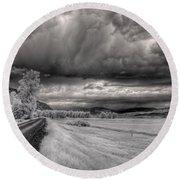 Kootenai Wildlife Refuge In Infrared 3 Round Beach Towel
