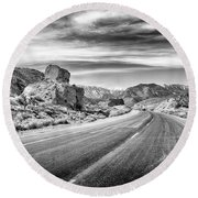Kyle Canyon Road Round Beach Towel by Howard Salmon