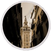 La Giralda - Seville Spain Round Beach Towel