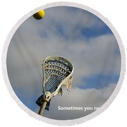 Lacrosse Reach Higher Round Beach Towel