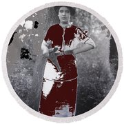 Lady Soldier Unknown Mexico Location 1905-1910-2014 Round Beach Towel
