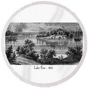 Lake Erie - 1815 Round Beach Towel