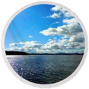 Lake Winnipesaukee Round Beach Towel