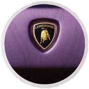 Lamborghini Diablo Se Roadster Emblem Round Beach Towel