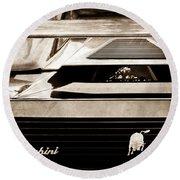 Lamborghini Rear View Emblem Round Beach Towel