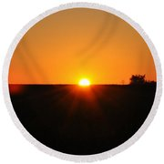 Lancaster County Sunrise Round Beach Towel
