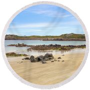 L'ancresse Bay - Guernsey Round Beach Towel by Joana Kruse