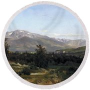 Landscape In Dauphine Round Beach Towel