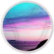 Landscape - Sunset Round Beach Towel